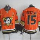 Anaheim Ducks 2017 Stanley Cup Champions patch Playoffs 15 Ryan Getzlaf Orange Hockey Jerseys