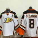 Anaheim Ducks 2017 Stanley Cup Champions patch Playoffs 8 Selanne White Hockey Jerseys