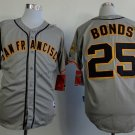 san francisco giants #25 barry bonds 2015 Baseball Jersey  Rugby Jerseys Authentic Stitched Gray 1