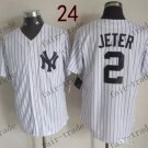 New York #2 Derek Jeter 2015 Baseball Jersey Rugby Jerseys Authentic Stitched
