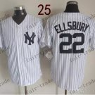 New York #22 Jacoby Ellsbury 2015 Baseball Jersey Rugby Jerseys Authentic Stitched