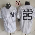 New York #25 Mark Teixeira 2015 Baseball Jersey Rugby Jerseys Authentic Stitched