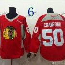 Chicago Blackhawks Practice #50 Corey Crawford Training Red Stitched Hockey Jerseys