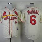 st. louis cardinals #6 stan musial 2015 Baseball Jersey Rugby Jerseys Authentic Stitched White 3