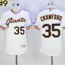 SF Giants 35 Brandon Crawford Jersey Cooperstown Base Flexbase Brandon Crawford Baseball White 2