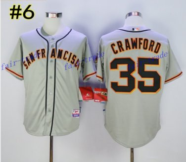 SF Giants 35 Brandon Crawford Jersey Cooperstown Base Flexbase Brandon Crawford Baseball Gray 2