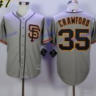 SF Giants 35 Brandon Crawford Jersey Cooperstown Base Flexbase Brandon Crawford Baseball Gray 3