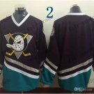 Anaheim Ducks Mighty Ducks #Blank Throwback Vintage Jersey Black Hockey Jerseys Heritage Stitched
