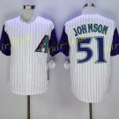 Arizona Diamondbacks 51 Randy Johnson Jersey Cooperstown Baseball Jerseys Diamondbacks White 3