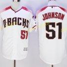 Arizona Diamondbacks 51 Randy Johnson Jersey Cooperstown Baseball Jerseys Diamondbacks White 4