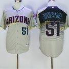 Arizona Diamondbacks 51 Randy Johnson Jersey Cooperstown Baseball Jerseys Diamondbacks Gray 1