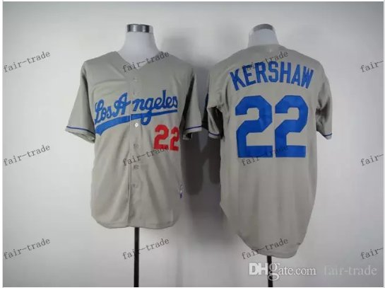 0b05b30e6 los angeles dodgers  22 clayton kershaw 2015 Baseball Jersey ...