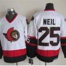 Ottawa Senators 2017 Stanley Cup Champions patch 25 Chris Neil White Jersey