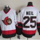 Ottawa Senators 2017 Stanley Cup Finals patch 25 Chris Neil White Jersey