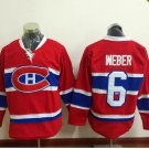 2016 New Montreal Canadiens #6 Shea Weber Red Stitched Hockey Jerseys Mix Orders