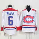2016 New Montreal Canadiens #6 Shea Weber White Stitched Hockey Jerseys Mix Orders