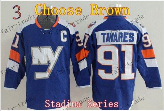 2016 Alternate New York Islanders 91 John Tavares Ice Winter Hockey Jerseys Brown