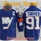 2016 Alternate New York Islanders 91 John Tavares Ice Winter Hockey Jerseys Brown