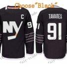 2016 Alternate New York Islanders 91 John Tavares Ice Winter Hockey Jerseys Black