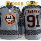 2016 Alternate New York Islanders 91 John Tavares Ice Winter Hockey Jerseys Gray
