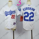 Dodgers Youth Jersey 22 Clayton Kershaw White Kid Size S M L XL
