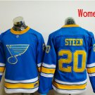 Women St. Louis Blues #20 Alexander Steen 2017 Winter Classic Blue Hockey Jerseys Stitched