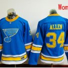 Women St. Louis Blues #34 Jake Allen 2017 Winter Classic Blue Hockey Jerseys Stitched