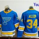 Youth St. Louis Blues  #34 Jake Allen 2017 Winter Classic Blue Kids  Hockey Jerseys Stitched