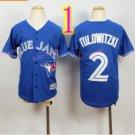 Top quanlity !Toronto Blue Jays Youth Jersey #2 Troy Tulowitzki Jerseys Blue Stitched