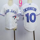 Top quanlity !Toronto Blue Jays Youth Jersey #10 Edwin Encarnacion White All Stitched
