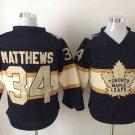 New Toronto Maple Leafs Ice Hockey Black 34 Auston Matthews Jerseys 100th Anniversary