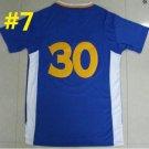 2016 Stitched Basketballl Jerseys #30 Curry Dark Blue 2 Rev 30 Embroidery unisex