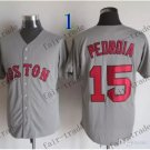 boston red sox #15 Dustin Pedroia 2015 Baseball Jersey Rugby Jerseys Authentic Stitched