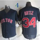 boston red sox #34 david ortiz Black 2015 Baseball Jersey Rugby Jerseys Authentic Stitched
