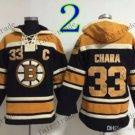 Boston Bruins #33 zdeno chara Back Hockey Hooded Stitched Old Time Hoodies Sweatshirt Jerseys
