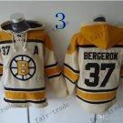 Boston Bruins #37 patrice bergeron White Hockey Hooded Stitched Old Time Hoodies Sweatshirt Jerseys