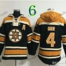 Boston Bruins #4 Bobby Orr Black Hockey Hooded Stitched Old Time Hoodies Sweatshirt Jerseys
