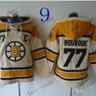 Boston Bruins #77 Ray Bourque White Hockey Hooded Stitched Old Time Hoodies Sweatshirt Jerseys