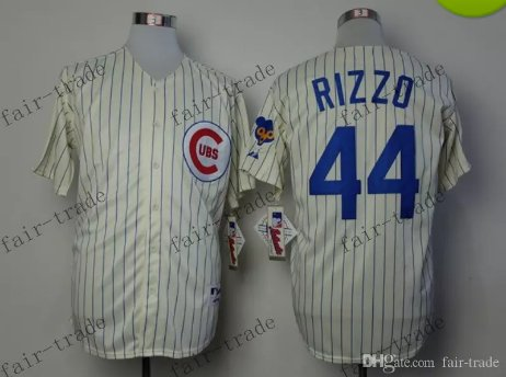 44 Anthony Rizzo Baseball Jersey Rugby Jerseys Embroidery logos White 4