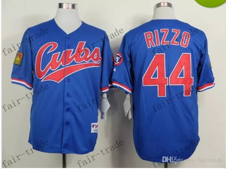 44 Anthony Rizzo Baseball Jersey Rugby Jerseys Embroidery logos Blue 2