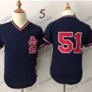 tampa bay rays #51 2015 Baseball Jersey Rugby Jerseys Authentic Stitched Dark Blue