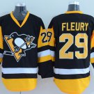 2016 Penguins Throwback Jerseys Pittsburgh 29 Andre Fleury Black