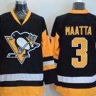 2016 Penguins Throwback Jerseys Pittsburgh  #3 Olli Maatta Black