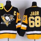 2016 Penguins Throwback Jerseys Pittsburgh 68 Jaromir Jagr black