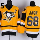 2016 Penguins Throwback Jerseys Pittsburgh 68 Jaromir Jagr Yellow