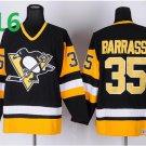 2016 Penguins Throwback Jerseys Pittsburgh  35 Tom Barrasso Black