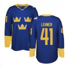 2016 World Cup Ice Hockey Sweden Jerseys  #41 Robin Lehner