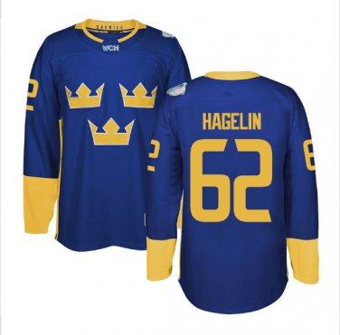 2016 World Cup Ice Hockey Sweden Jerseys  #62 Carl Hagelin
