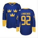 2016 World Cup Ice Hockey Sweden Jerseys  #92 Gabriel Landeskog