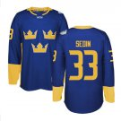 2016 World Cup Ice Hockey Sweden Jerseys  #33 Henrik Sedin